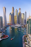 Modern buildings in Dubai Marina UAE - 128392150