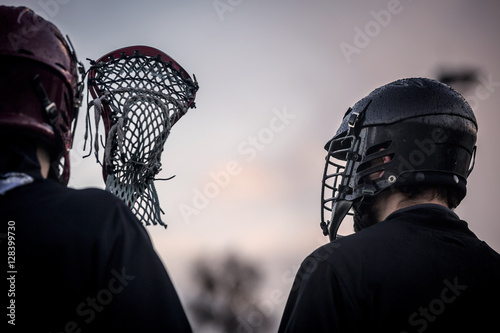 Fototapeta Lacrosse - american high school sports themed photo