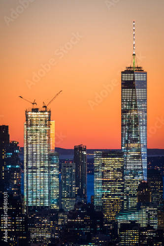 Poster Freedom Tower (One World Trade Center) together with Two World Trade Center
