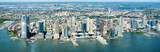 High resolution panoramic view of Jersey City and the Hudson River - 128413754