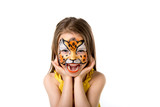 Fototapety cute little girl with painted face