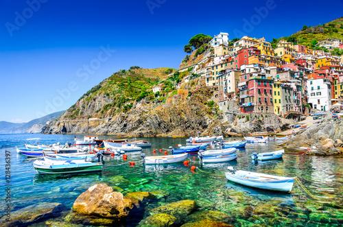 Poster Liguria Riomaggiore, Cinque Terre, Italy