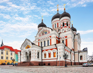 Alexander Nevsky Cathedral in Tallinn Old Town, Estonia
