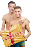 Two sexy guy and gift.