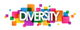 DIVERSITY vector letters icon