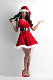 Woman in santa claus costume