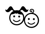 kids icon vector illustration