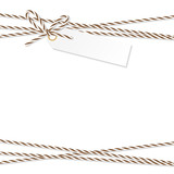 Background with bakers twine bow and ribbons - 128457125