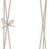 Background with bakers twine bow and ribbons - 128457194