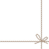 Background with bakers twine bow and ribbons - 128457318