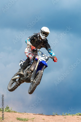 Motocross high jump Poster