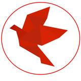красная птица оригами