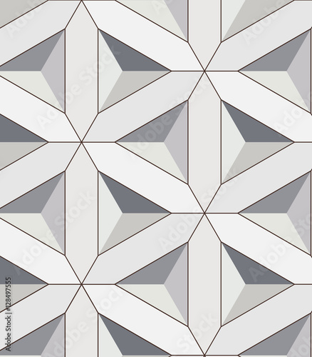 linear triangle vector pattern - 128497555
