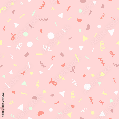 Cotton fabric Confetti pink pattern