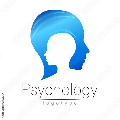 Modern Head Logo Of Psychology Profile Human Creative Style