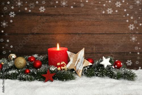 Poster Kerze zur Weihnachtszeit