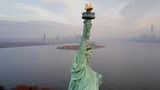 Aerial view Statue of Liberty 4K - 128525780