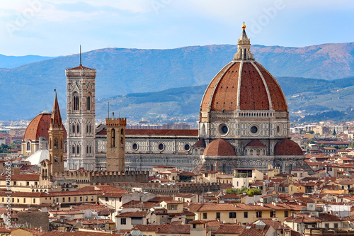 Tuinposter Florence city of FLORENCE with the great dome of the Cathedral