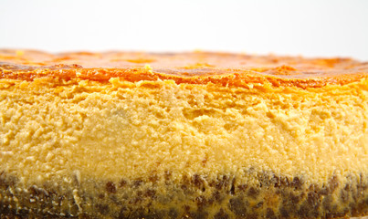 cheese cake with pumpkin close up