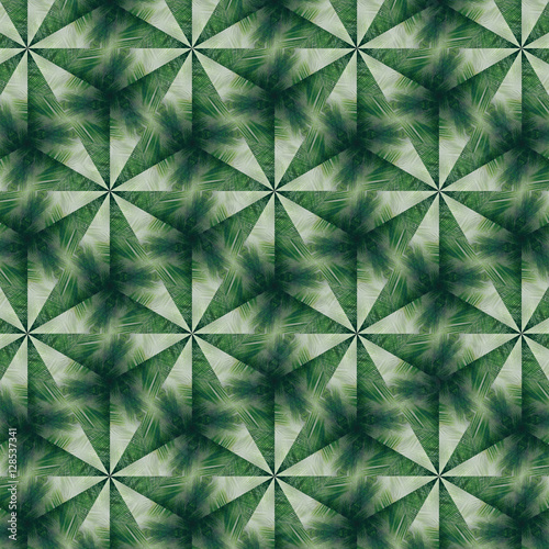 Triangle green pattern - 128537341