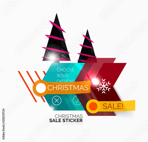 shiny holiday new year and christmas sale banners