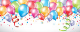 Festive Balloons background - 128550183