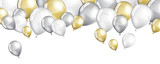 Silver and gold balloons - 128550309