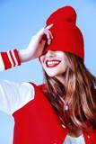 red lipstick smile