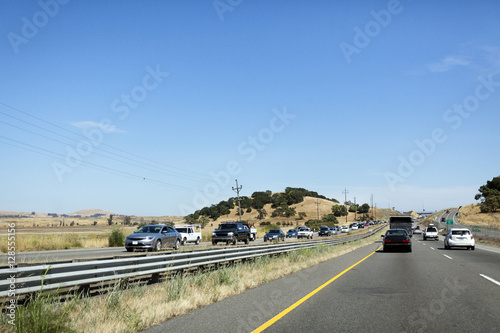 California highway traffic. US 101. Horizontal. Poster