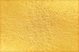 Shiny yellow leaf gold foil texture background - 128564736