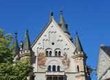 Neuschwanstein castle, Romanesque Revival palace, Hohenschwangau, Fussen, Bavaria, Germany