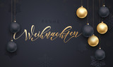 German Christmas Frohe Weihnachten gold ornament decoration