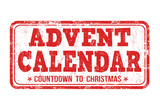Advent calendar sign or stamp
