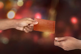 Hand holding chinese red envelope