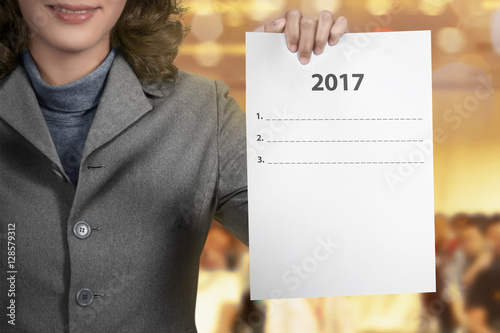 Poster Woman Hold 2017 To Do List