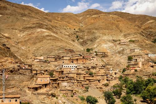 Fotobehang Overige Village in the Atlas mountains
