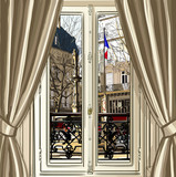 France, Paris, window opening on a street