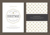 Christmas Greeting Card or Poster Design Template.