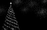 Gray background with Christmas tree.