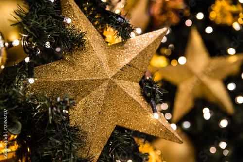 Poster elegant geschmückter Christbaum