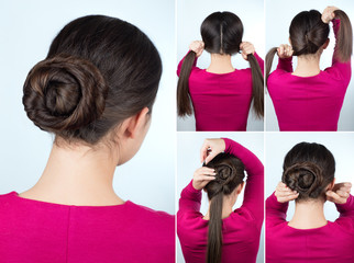 hairstyle twisted bun tutorial © alter_photo