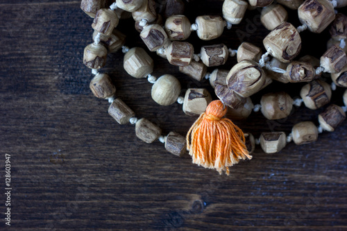 Plakát Japa mala rosary - hinduism and buddism rosary made from tulsi tree for hare kri