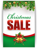 christmas sale banner with decorations