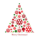 Christmas tree vector graphic.