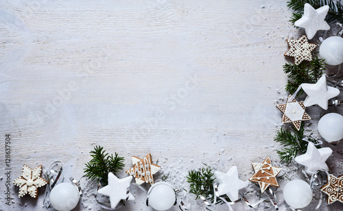 Foto Murales Christmas white decoration