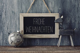 text Frohe Weihnachten, Merry Christmas in German