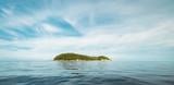 Tropical caribbean island in open ocean - 128660584