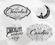 Set chocolate labels