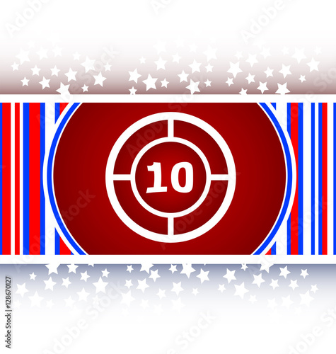 Poster glass target web icon, button