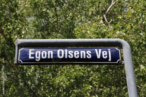 "Egon Olsens way in Copenhagen named after the comedy thriller ""Olsen Gang"", Denm Poster"